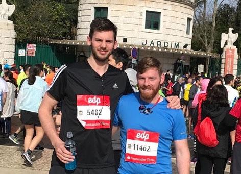 Padraic and Neil raise £2,040.27 at Lisbon Marathon