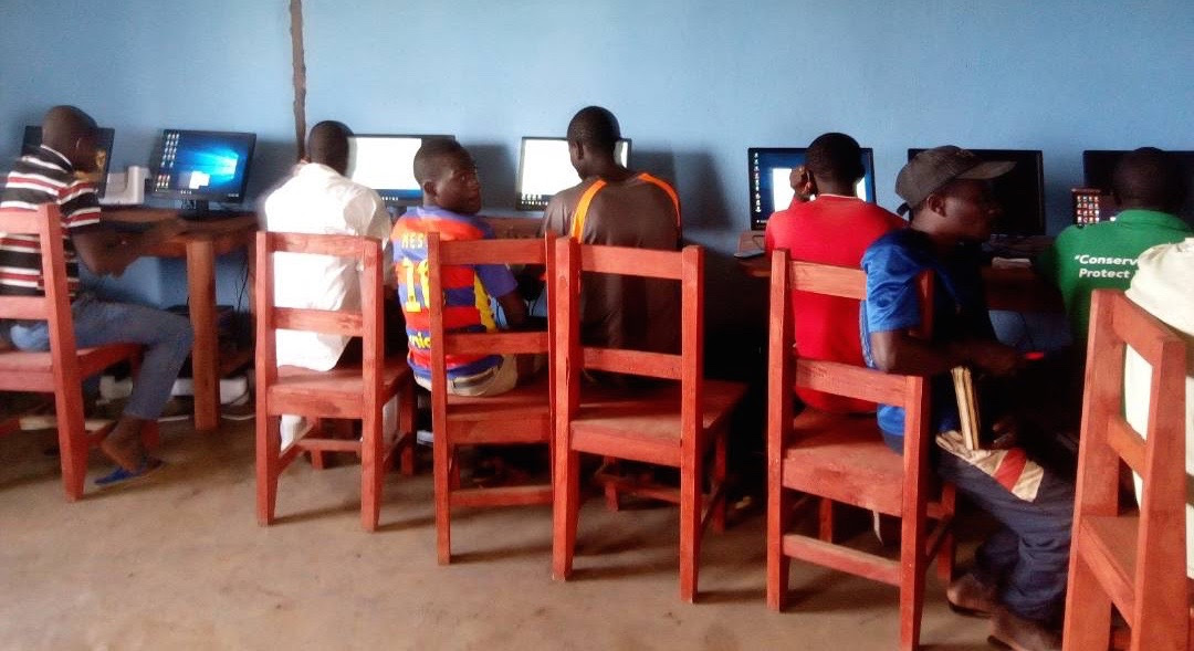 First computer classes in Rwamwanja