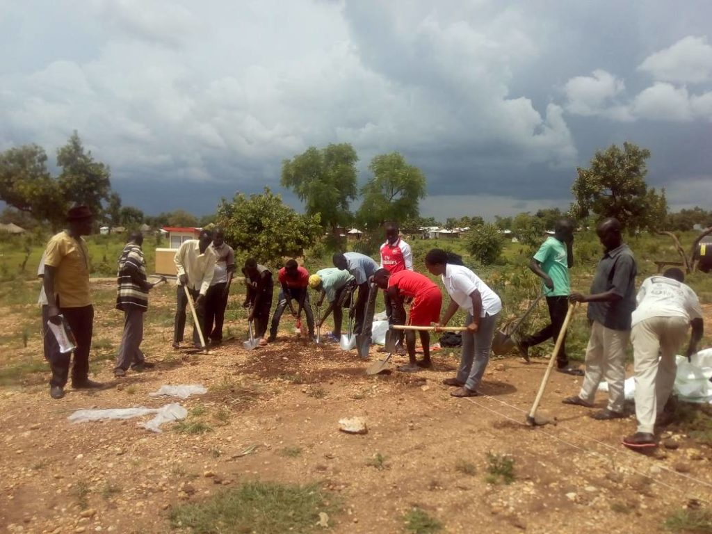 Construction of our newest community hub kicks off in Imvepi, Uganda